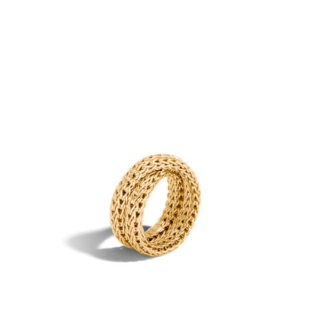 Classic Chain Overlap Ring in 18K Gold