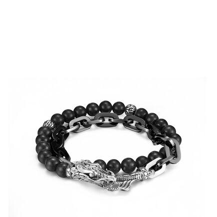 Naga Wrap Bracelet with Black Onyx