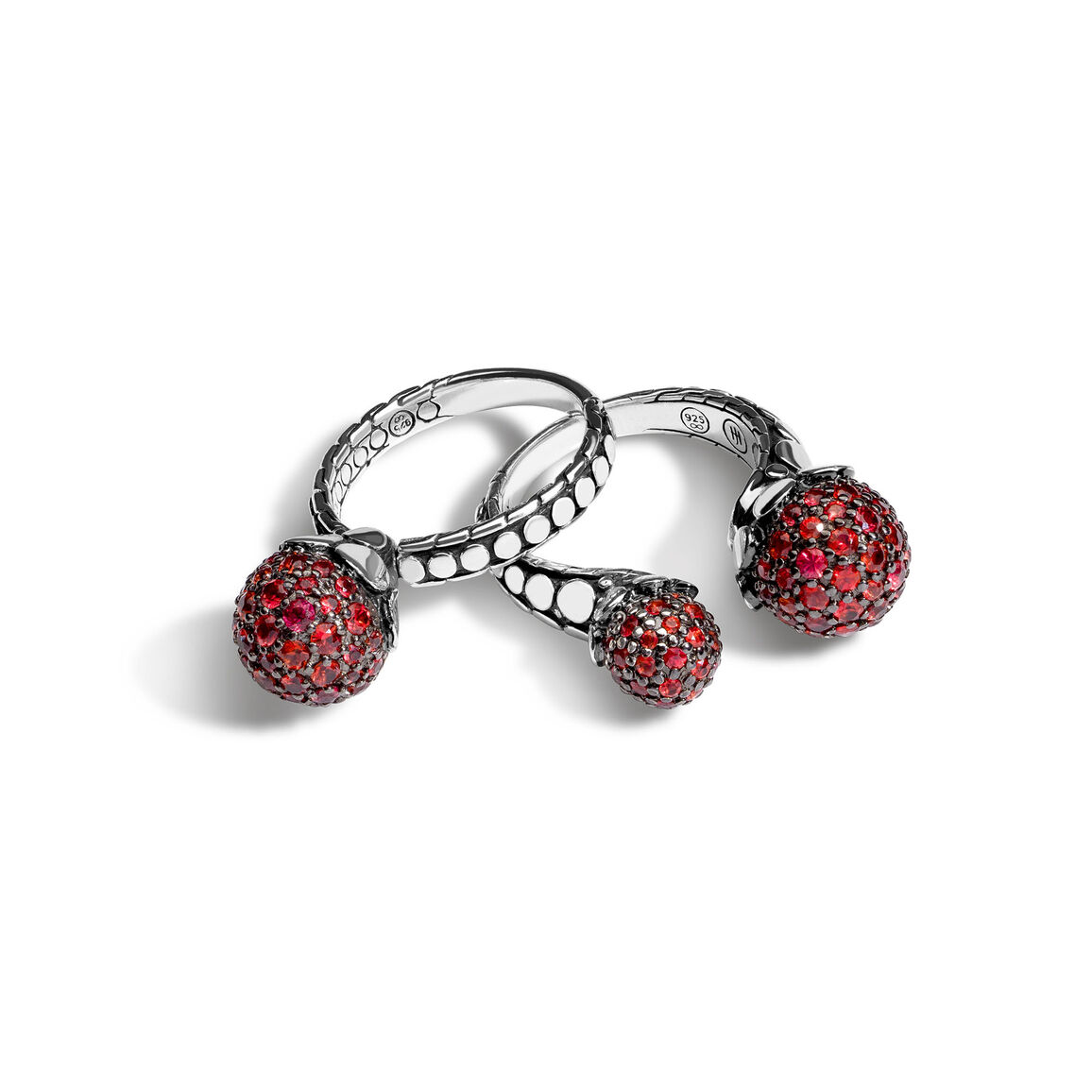 Dot Red Sapphire Ring Gift Set