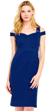 Open Shoulder Sheath Dress with Sweetheart Neckline