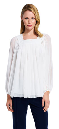Square Neck Chiffon Blouse