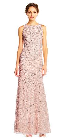 Sequin Beaded Halter Dress