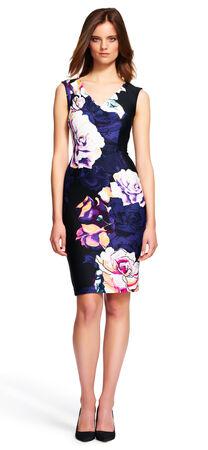Floral Printed Scuba Dress