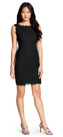 Sleeveless Lace Cocktail Sheath Dress