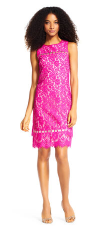 Katie Lace Shift Dress with Ladder Cutouts