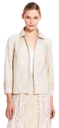 Flower lace A-line jacket