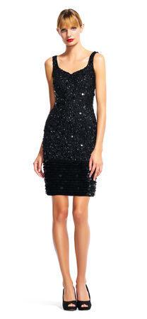 Mixed Sequin Cocktail Dress