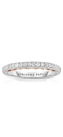Diamond Vintage-Style Wedding Band in 14K Two-Tone Gold