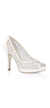 Foxy Jewel Studded Peep Toe Pump