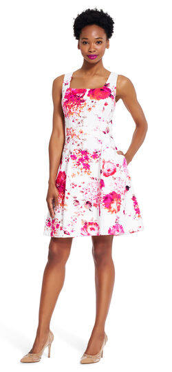 Blossom Printed Fit and Flare Dress