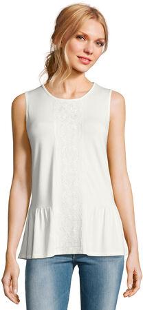 Sleeveless Embroidered Peplum Top