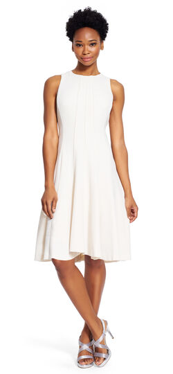 Fit and Flare Crepe Dress