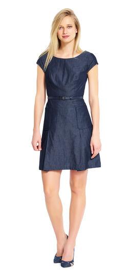 A-line Chambray Dress