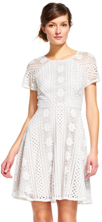 Short Sleeve Crochet Lace Dress