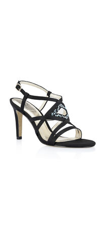 Ace Satin Strap Jeweled Sandal