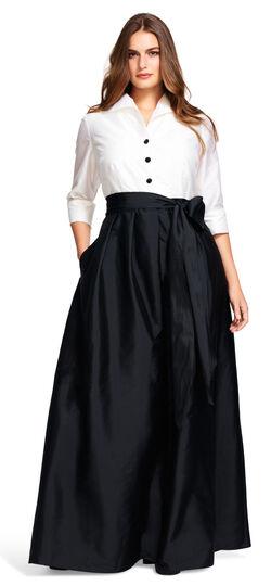 Taffeta Blouse with Ball Skirt $229.00 AT vintagedancer.com