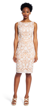 Sequin Embroidered Sheath Dress