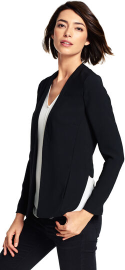 Open Front Jacket with High Low Hem