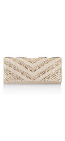 Nicole Chevron Beaded Clutch