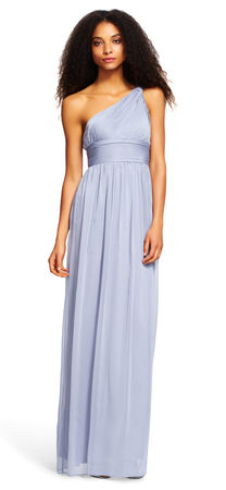 One Shoulder Chiffon Gown