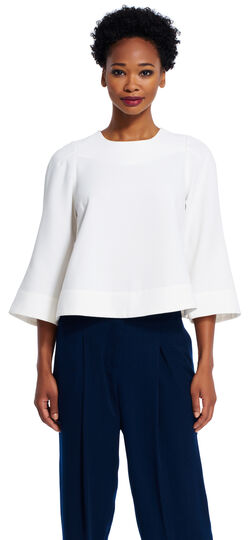 Draped Wide Sleeve Top