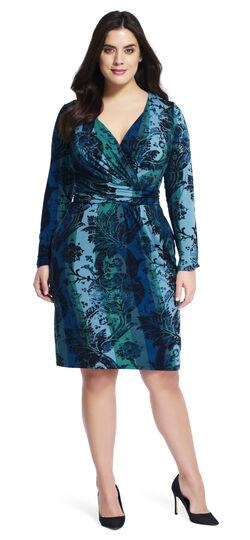 V-neck Printed Wrap Dress