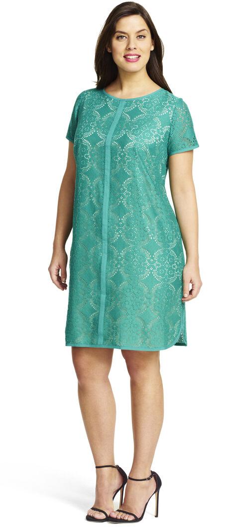 Medallion Lace Shift Dress