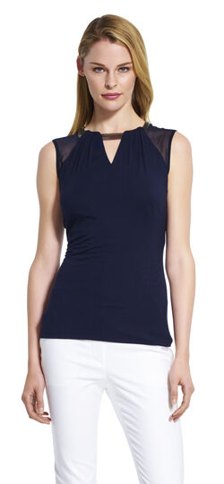 Jersey Top with Chain Detailing
