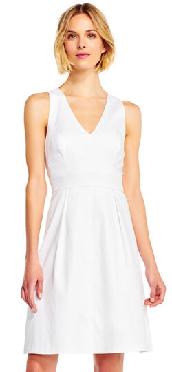 Sleeveless Fit and Flare Dress with Criss Cross Back