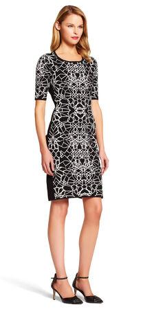 Scoop Neck Jacquard Dress