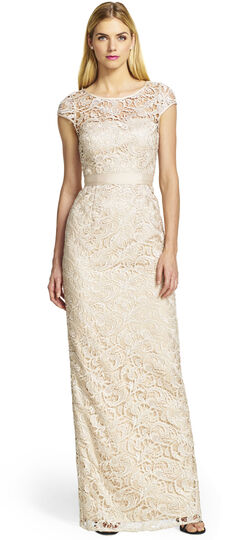 Cap Sleeve Lace Gown
