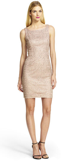 Metallic Lace and Sequined Dress