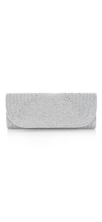 Sharon Metallic Cord Clutch