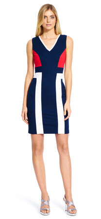 Color blocked Sheath Dress