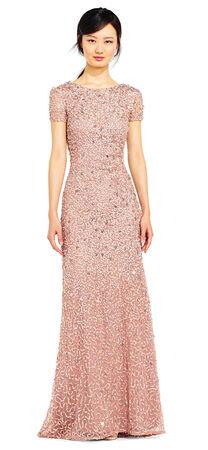 Scoop Back Sequin Gown