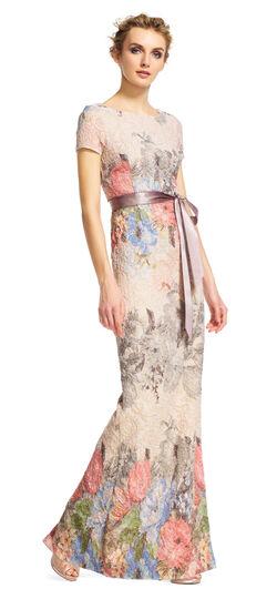 Floral Matelasse Gown $220.00 AT vintagedancer.com