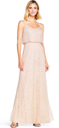 Art deco blouson beaded gown