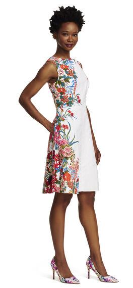 Painted Floral Printed Dress