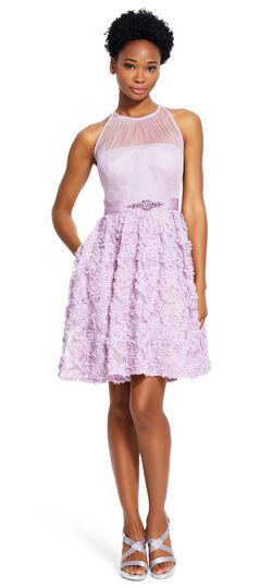 Petal Chiffon Halter Dress