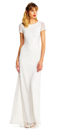 Scoop Back Sequin GownPlus Size Wedding Reception Dresses   Adrianna Papell. Plus Size Wedding Reception Dresses For The Bride. Home Design Ideas