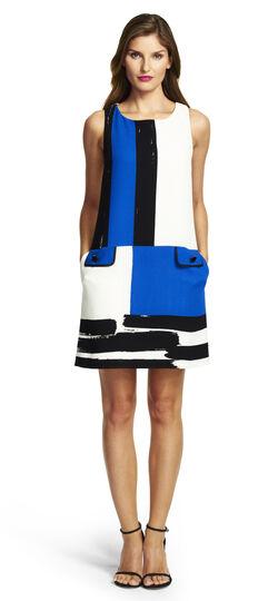Placement Print A-line Dress