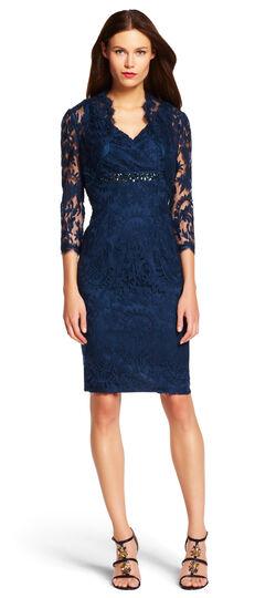 Lace Embellished Dress with Bolero