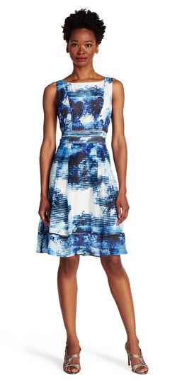 Floral V-Back Fit and Flare Dress