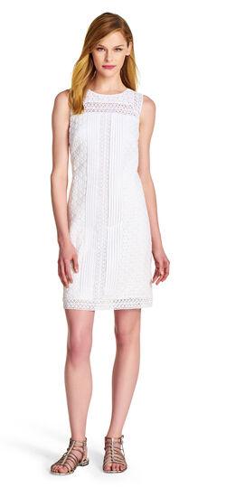 Mixed Lace Cotton Shift Dress