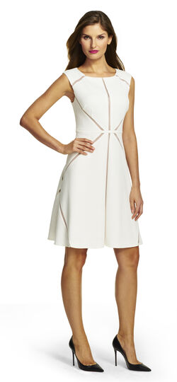 Fit and Flare Spliced Dress