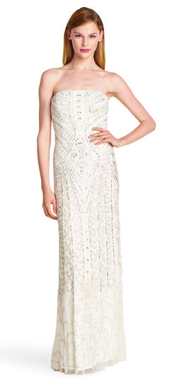 Scroll Beaded Gown