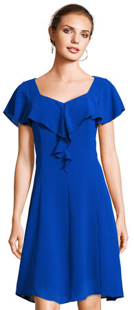 Ruffle Shift Dress with Short Sleeves
