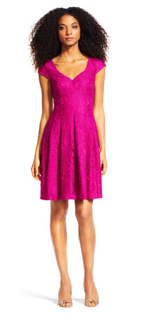 Juliet Lace Cap Sleeve Fit and Flared Dress