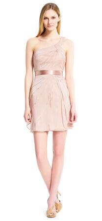 One Shoulder Flutter Dress