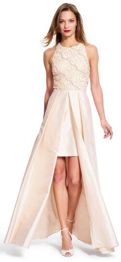 Halter Gown with Taffeta Skirt